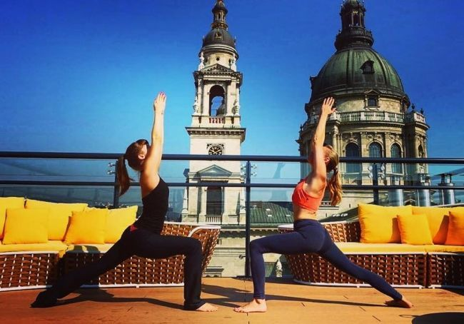 Private Rooftop Yoga classes are available upon request