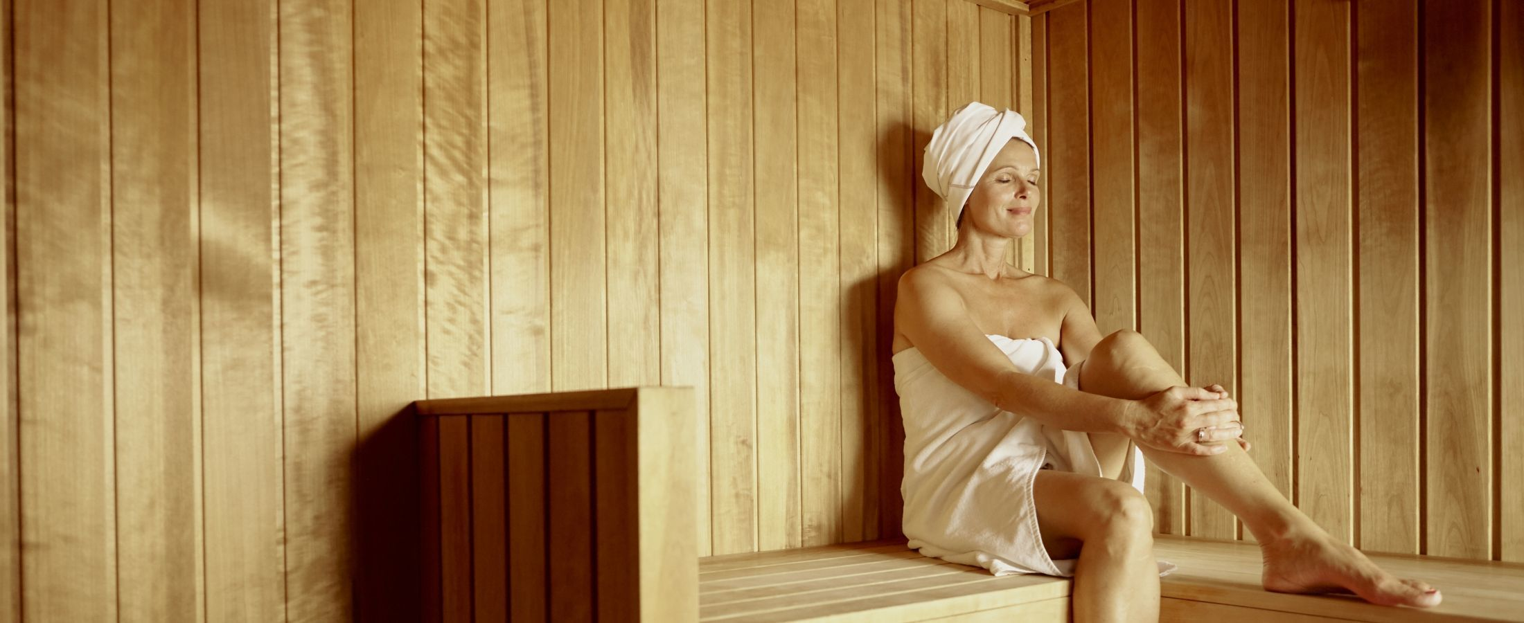 Reach an state of relaxation with time spent in our Finnish sauna.
